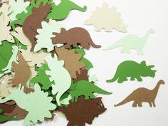Dinosaur Confetti Dinosaur Die Cuts Birthday by LilpawsPaperArt