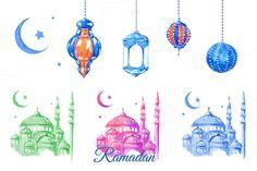 Ramadan greeting card or banner horizontal background traditional 518272 m4hsunfo