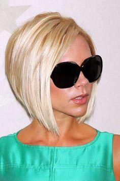 Victoria Beckham Short Platinum Classic Bob Hairstyles