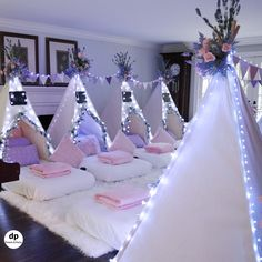 Sleepover Party Rentals for Kids Adults Dream Party Birthday Sleepover Ideas, Sleepover Room, Sleepover Activities, 13th Birthday Parties, Birthday Party For Teens, Slumber Parties, Cool Sleepover Ideas, Party Ideas For Teenagers, Slumber Party Ideas