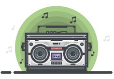 What You'll Be CreatingIn today's tutorial, we're going to get down and funky and create our very own Boombox using some of Illustrator's most basic tools and shap