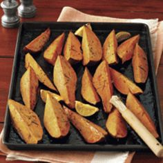 Roasted Sweet Potatoes with Honey & Lime