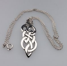 Celtic silver necklace designed by Hebridean  Jewellery