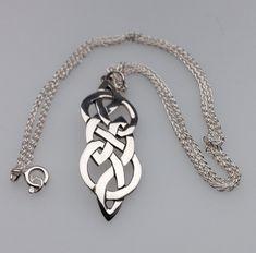 Celtic silver necklace designed by Hebridean  Jewellery