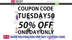Want to save 50% off of all X-O products? For one day only enter coupon code TUESDAY50 at checkout to instantly save. This offer is only good on June 7, 2016, so get your orders in now! http://store.air-freshener-xo.com/odor-neutralizer #odor #AirFreshner #AllNatural #OdorNeutralizer #Coupon