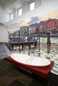 This is really cool! Mosaic Bathroom Tiles with Cool Images by Glassdecor | DigsDigs