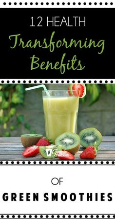 Green smoothies have changed my life. 8 years on and I'm still drinking 1-2 complete meal green smoothies per day....If you're not sure why you need green smoothies in your life, I have 12 compelling reasons for you to drink smoothies including a little known effect that green smoothies have on the ageing process. (you are going to love this one). http://www.greenthickies.com/12healthbenefitsofgreensmoothies/