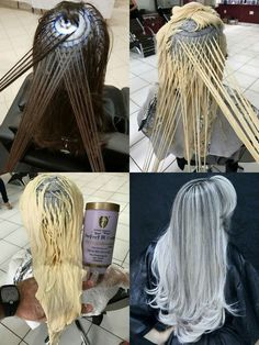 Silver hair and shampoo Silver hair and shampoo Silver Ombre Hair, Brown Ombre Hair, Ombre Hair Color, Hair Cutting Techniques, Hair Color Techniques, Hight Light, Hair Color Formulas, Pinterest Hair, Balayage Hair