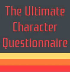Laura L. M.: Ultimate Character Questionnaire