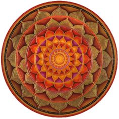 Indian Colors Mandala Round