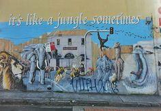 Graffiti in Newtown. Street Art