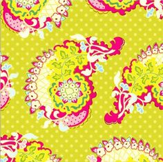 love <3  Heather Bailey Pop Garden Paisley Lime