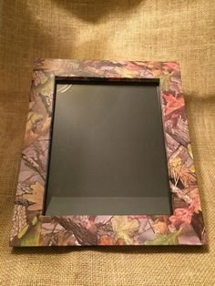 handmade rustic wooden camo picture frame by hilltopcountry