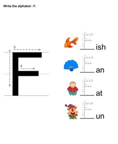 Letter Writing F - esl-efl Worksheets - preschool Worksheets