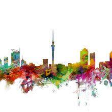 Déco murales - Auckland Skyline