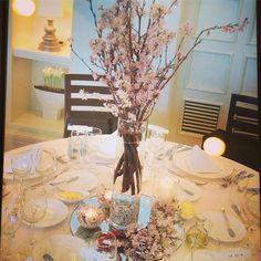【t113t_wedding】さんのInstagramをピンしています。 《装花の打ち合わせ① 卓上花について 先日、一ヶ月以上ぶりの打ち合わせ行きました♪ フローリストさんが、昔キスマイが好きだったとのことで、ジャニーズ話に花を咲かせたりでちょいちょい話逸れたけどw、キャッキャ楽しく打ち合わせできました♡最近色々ありすぎて結婚式にめっちゃ後ろ向きになってましたが久しぶりに結婚式に向けて前向きな楽しい気分になれて嬉しかったな∩^ω^∩ しかし、とっっっても残念なことがブーケの主役にしようと考えていた大本命の芍薬が、5月かららしくて使えないことがわかり大ショックちょこっとアクセントで入れようかなと思ってたミモザも時期的にダメらしい… その代わり、卓上花で使いたいと思ってた桜は無事使えるらしくてよかったー 過去に式された方の写真を色々アイパッドで見せてもらってたら、この画像があり❣️こんなんがいいですーって卓上花のみ即決定\( ˆoˆ…