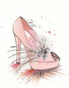 Dior Wedding   Art Print  8x10 by claireswilson on Etsy, $25.00