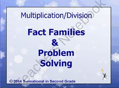 Multiplication and Division (Fact Families and Problem Solving) from Sunsational~in~Second Grade on TeachersNotebook.com -  (17 pages)  - Multiplication and Division (Fact Families and Problem Solving) Flipchart for ActivInspire (Promethean Activboard)
