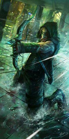 Green Arrow by Lap Pun Cheung (^.^) After becoming obsessed with DC's version of the Green Arrow I have to post anything to do with it! Comic Book Characters, Comic Book Heroes, Comic Character, Comic Books Art, Comic Art, Character Design, Green Arrow, 3d Fantasy, Final Fantasy