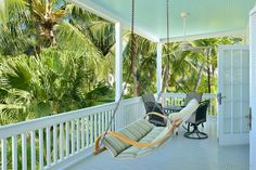 Swing your cares away on the on this spacious porch of this luxury Truman Annex home. Key West Rentals, Victorian Cottage, Cottage Style Homes, Annex, Classic House, Luxury Villa, Porch Swing, Luxury Homes, Bedroom Decor