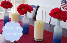 Patriotic DIY centerpiece for Fourth of July Decorations