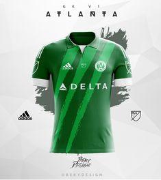 Atlanta United FC - Concepts on Behance World Football, Football Kits, Football Jerseys, Sports Jersey Design, Atlanta United Fc, Clothing Photography, Sport Wear, Wetsuit, Polo Ralph Lauren