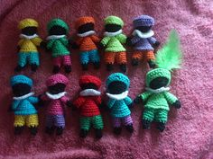 * Inspiratie: Mloussy: Pietjes haken Diy Crochet Toys, Crochet Gifts, Crochet Animals, Crochet Dolls, Crochet Projects, Knit Crochet, Arm Knitting, Knitting Patterns, Crochet Patterns