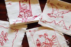 Love Charles Vintage: Vintage embroidered quilt squares