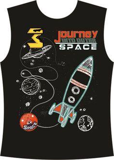 Space Fashion, Cartoon T Shirts, Kids Prints, Photoshop Photography, Boys T Shirts, Kids Wear, Cute Art, Art For Kids, Embroidery Designs