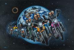 artist david mann biography | ... Originals - All Artwork - David Mann - Motorcycle Art | Fine Art World