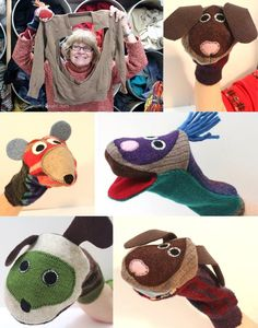 Las maravillosas marionetas recicladas de Margaret / Margaret's great recycled puppets   #juguetes #tinytoy #toys #jugueteria