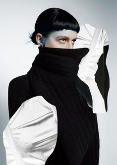 """bienenkiste: """"Photographed by Tony Andrew for Ugly magazine issue """" Black Tongue, Wild Style, Losing A Dog, Fashion Images, Being Ugly, Black And Grey, Turtle Neck, Photoshoot, Beauty"""