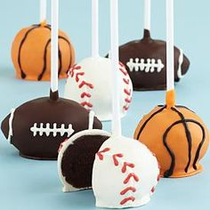 Make It A Delicious Father's Day With Tasty Treats That Dad Will Love! Sports Ball Cake Pops.