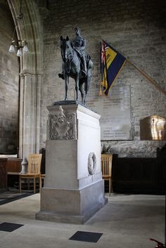 The Monument to Edward Horner in Mells Parish Church