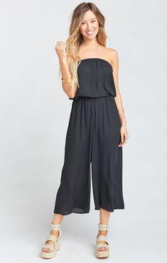 d6b0b212d9 Estelle Jumpsuit ~ Black Crisp Stitch Fit