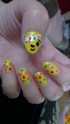 My Pudsey Bear nails