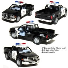 Dodge Ram Police Pickup Truck Scale (Black/White) by Kinsmart Police Cars, Police Officer, Disney Incredibles, Toy Cars For Kids, Lego Room, Tecno, Toy Store, Pokemon Cards, Pick Up
