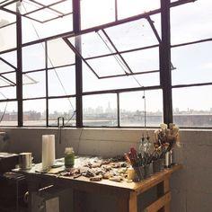 art studio in Bushwick. Bush wick open studios
