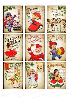Navidad vintage papel de azucar papel de arroz y chocotransfer