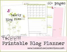 FREE 60+ Page Blog Planner Set (& it's pretty!)