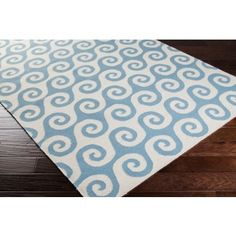Blue and Ivory Whimsical Waves Area Rug - Great casual beach house look! Nautical Rugs, Coastal Rugs, Nautical Design, Coastal Homes, Coastal Decor, Teal Area Rug, Area Rugs, Rug Sale, Beach House Decor