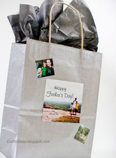 personalize a plain bag with photos and text - Father's day ideas