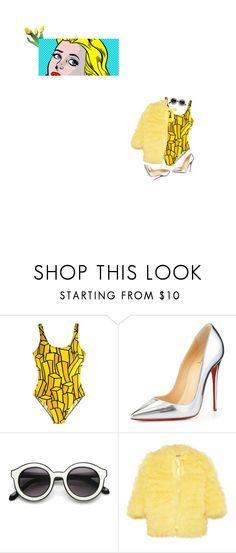 """""""(art) pop"""" by imsobeatles ❤ liked on Polyvore featuring Christian Louboutin, INDIE HAIR and Meadham Kirchhoff"""