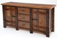 Rustic Urban Wood Buffet Table By JHOOPERDESIGNS On Etsy, $1445.00
