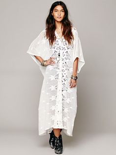Free People Kona Pointelle Poncho at Free People Clothing Boutique - make one!