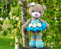 Smartapple Creations - amigurumi and crochet: Bibi the Ballerina Bear amigurumi pattern is available