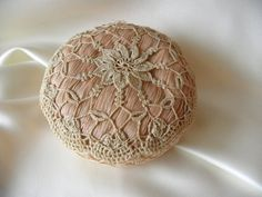 http://en.allexperts.com/q/Collectibles-General-Antiques-682/2009/3/OLD-PINCUSHION.htm  To read about the Shakers, follow this link: http://en.wikipedia.org/wiki/Shaker  Purchased this item back in 2009