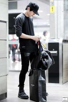 korean airport fashion and casual wear: