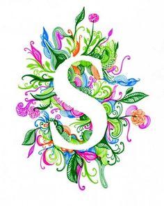 Steph Loves to Draw Vintage Lettering, Lettering Design, Hand Lettering, David Zinn, Flower Letters, Flower Frame, Name Drawings, Alphabet Letters Design, Ipod Wallpaper