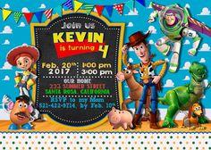 Toy Story invitación  juguete historia por SmileInvitation en Etsy